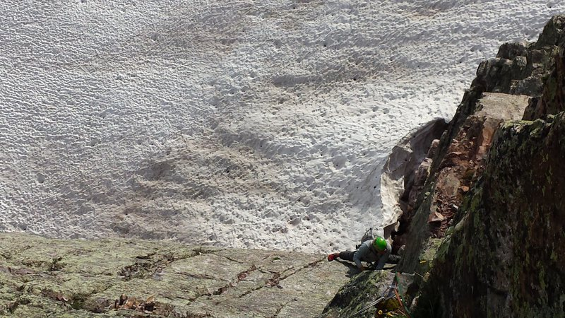 Rock Climbing Photo: The top of pitch 2.