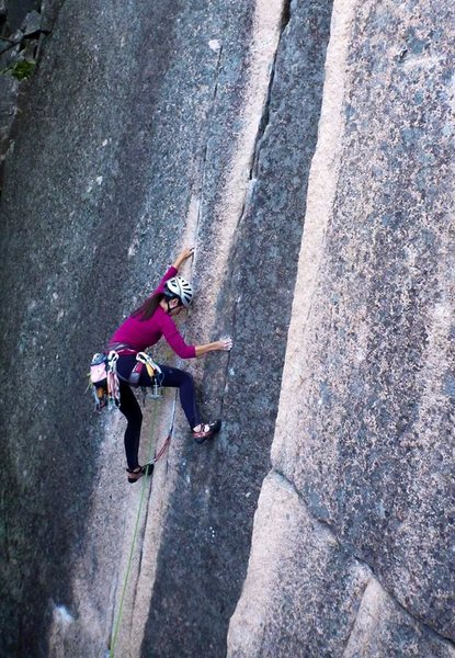 John Gassel gets a great shot at the crux of Connecticut Crack.