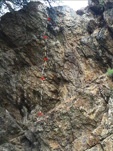 Rock Climbing Photo: Tricky crux at the end