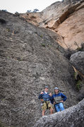 Rock Climbing Photo: Benji and I after climbing Seems Like Old Times (5...