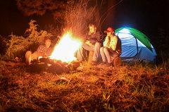 Rock Climbing Photo: Campfire