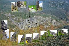 Rock Climbing Photo: Wallface traverse to final pitches of Diagonal wit...