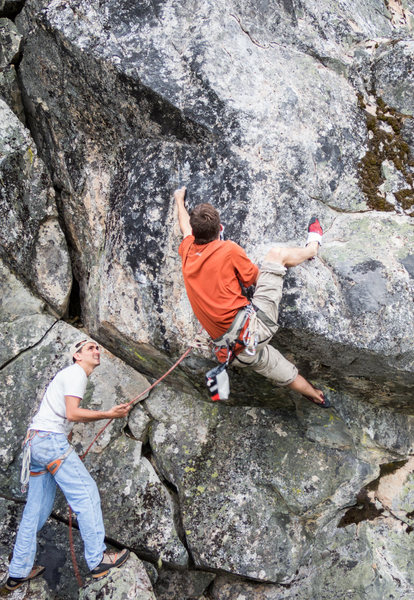 Rock Climbing Photo: Working through the bulge on Size 12. We took a lo...