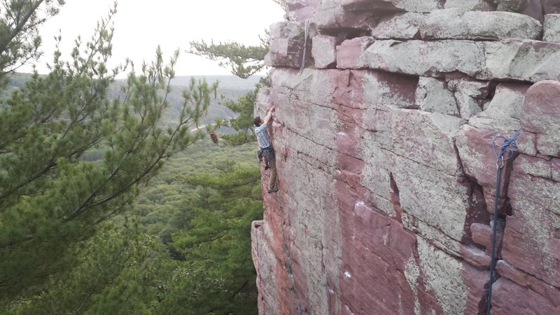 Rock Climbing Photo: Dan Dolan sending Upper D