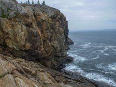 Rock Climbing Photo: The intermediate belay atop P1 of Melba.
