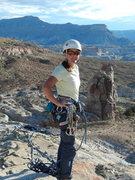 Rock Climbing Photo: Phyllie on summit.