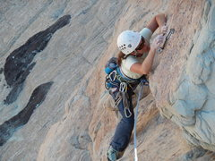 Rock Climbing Photo: Mid way through
