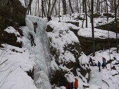 Rock Climbing Photo: The Waterfall lead