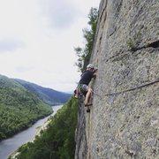 Rock Climbing Photo: Starting up pitch 3