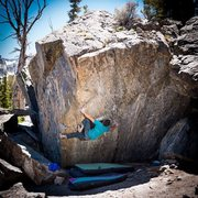 Rock Climbing Photo: Meadow Face Sit (V9)