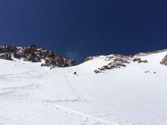 Bottom of Mt Parnassus couloir - April 2015