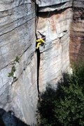 Rock Climbing Photo: Side pull and walk all the way up the opposite fac...