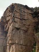 Rock Climbing Photo: Dirty Secrets on the left, Humble Pie on the Right