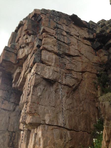 Rock Climbing Photo: Humble Pie right, Dirty Secrets left