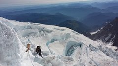 Rock Climbing Photo: DC route. Mt. Rainier
