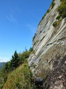 Rock Climbing Photo: The main cliff. Hard to beat the location!