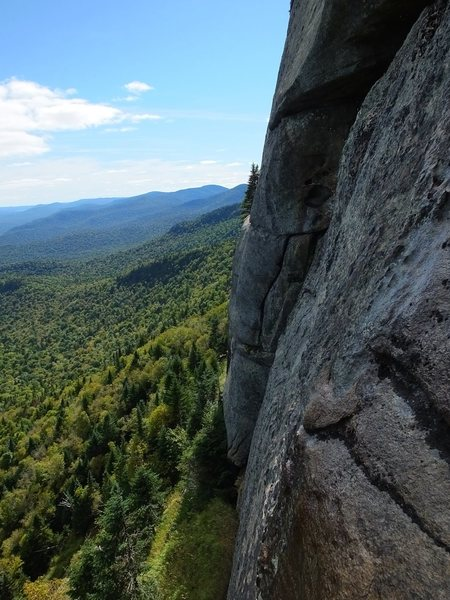 Rock Climbing Photo: Looking west from the anchor.
