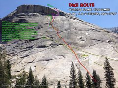 Rock Climbing Photo: Route Overlay for Dike Route