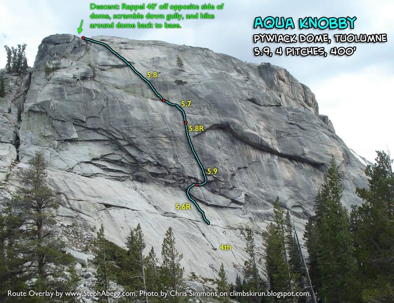 Route Overlay for Aqua Knobby