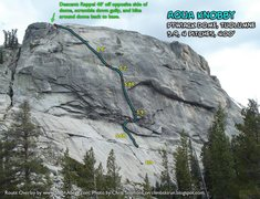 Rock Climbing Photo: Route Overlay for Aqua Knobby