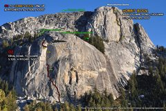 Rock Climbing Photo: Route Overlay Hobbit Book