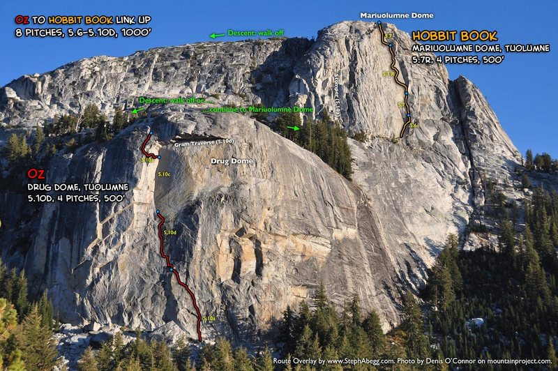 Rock Climbing Photo: Route Overlay Oz