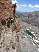 Rock Climbing Photo: Greg on Pizza Pan belay Station