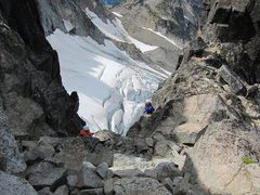 Rock Climbing Photo: after crossing the Stuart glacier