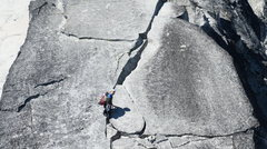 Rock Climbing Photo: Crack pitch before the Gendarme