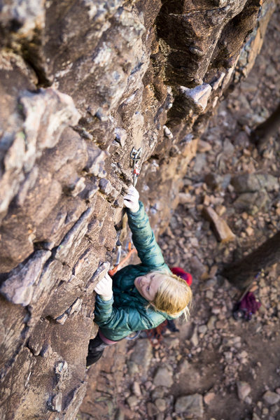 A sea of knobs on one of the best 5.10s in the country.