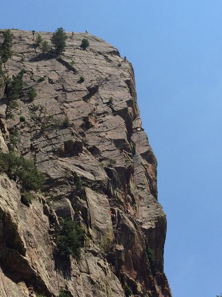 Rock Climbing Photo: Really busy on Yellow Spur on 07-03-2015