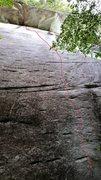 Rock Climbing Photo: Rough idea of line.