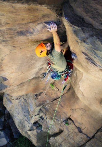 Rock Climbing Photo: Ben Zeiger-Haag on Bladerunner, Paradise Forks