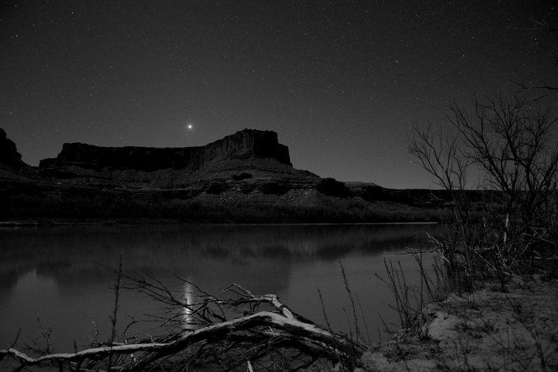 Night at Potato Bottom camp ground along the White Rim Trail.