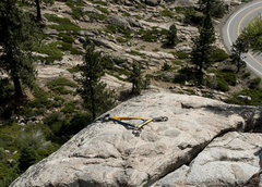 Rock Climbing Photo: I saw this death triangle at the top of Green Phan...