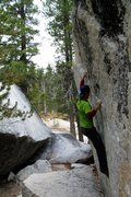Rock Climbing Photo: On The Gallery at Puppy Dome in Tuolumne Meadows.