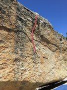 Rock Climbing Photo: Start on the mini California shaped flake.