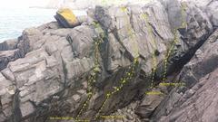 Rock Climbing Photo: Flight Path Crag in Logy Bay