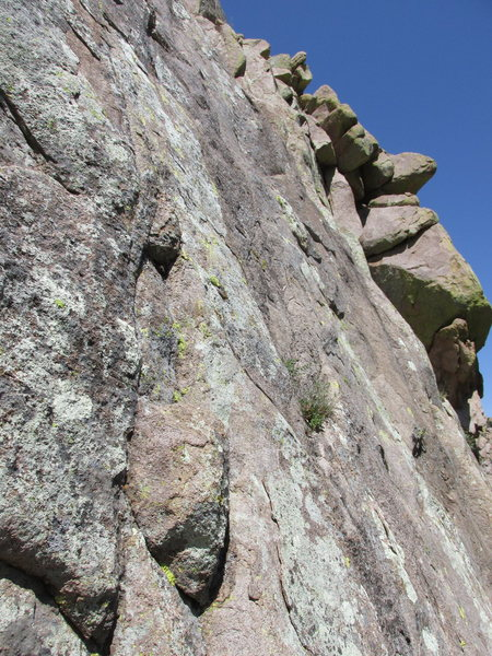 Rock Climbing Photo: The intimidating start of Pitch 3.