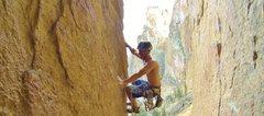 Rock Climbing Photo: Double Trouble, 5.10b