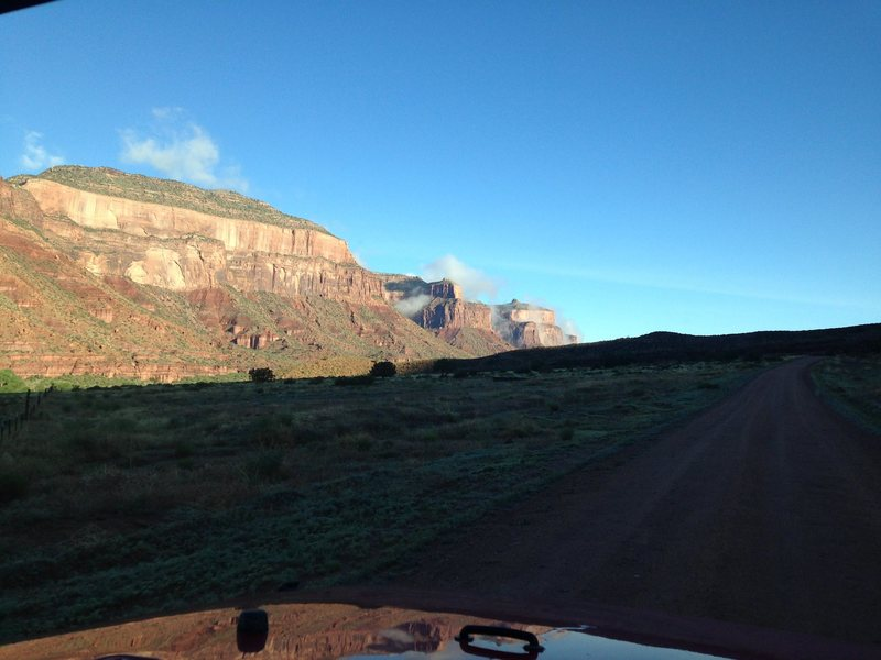 Rock Climbing Photo: Driving on 4 2/10 Road to the start of the approac...