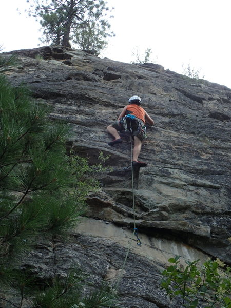 Rock Climbing Photo: Climber on Moondance