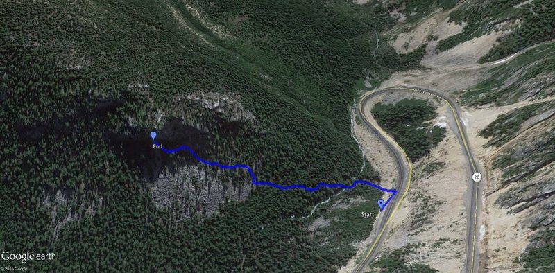 Rock Climbing Photo: trail approach