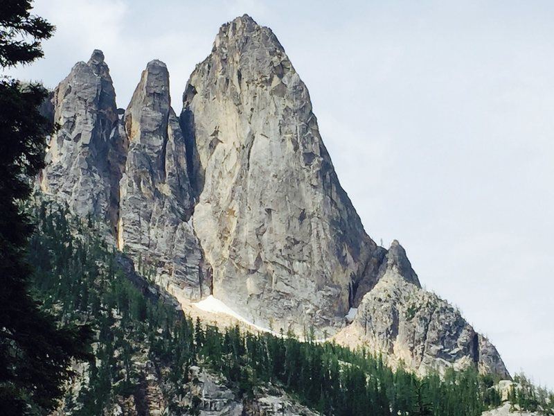 Rock Climbing Photo: view from base of crag