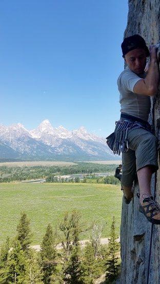 "Rock Climbing Photo: Climbing ""Time Flies When Your Alive""."