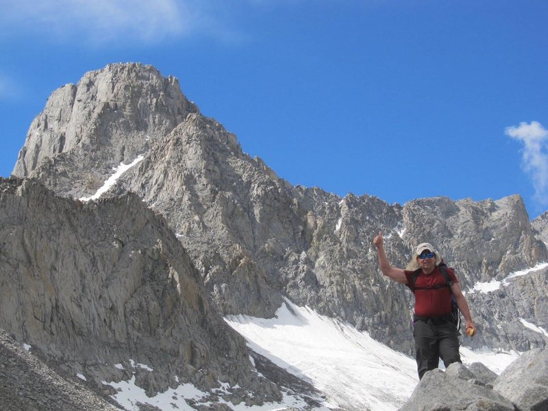 Mt Sill Swiss Arete is on the left. This was taken from Gayley Camp by Tristan Sieleman.