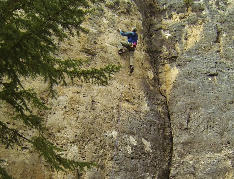 Rock Climbing Photo: Jerry gets Freaking High!