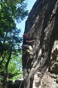 Rock Climbing Photo: Kelly Laakso sending Fine Wine 10b