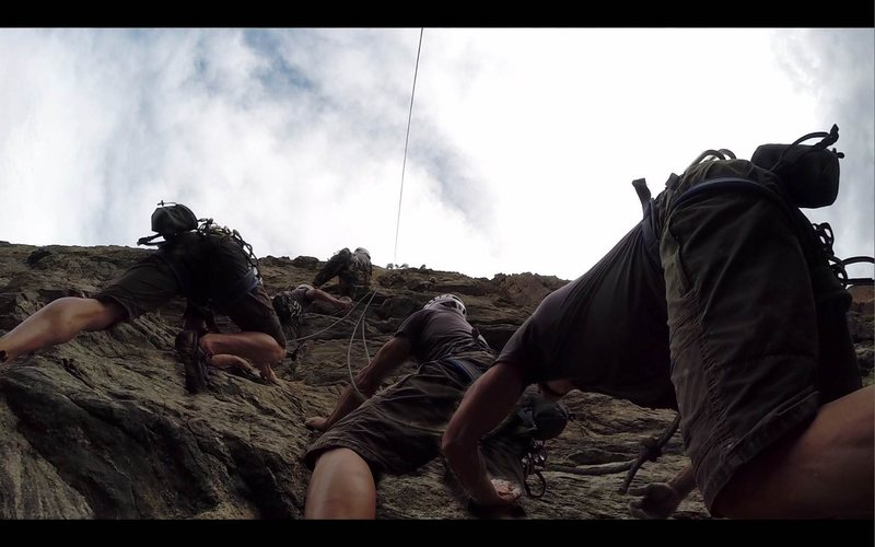 Rock Climbing Photo: John McGonigle cleaning on Bush Administration.