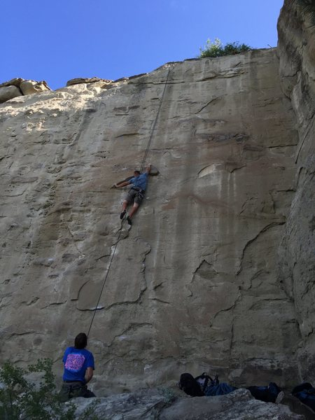 Kristian finishing the crux